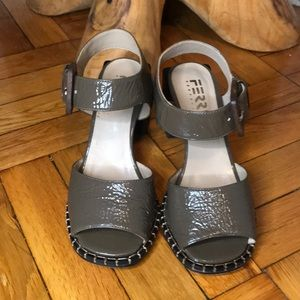 Ferri Sao Paulo green leather sandals - size 36